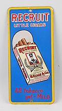 Recruit Little Cigars Porcelain Sign.