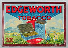 Tin Over Cardboard Edgeworth Tobacco Sign.