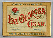 La Olorosa Tin Cigar Sign.
