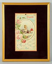 Rare 1899 Coca-Cola Calendar Variation.