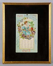 Exceedingly Rare 1898 Coca-Cola Calendar.