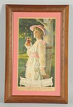 1916 Miss Pearl White Coca-Cola Calendar.