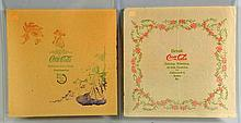 Lot Of 2: 1900s Coca-Cola Rice Papers Napkins.