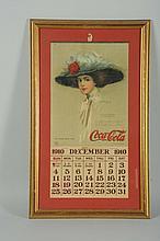 Scarce 1910 Coca-Cola Calendar.