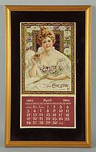 1903 Framed Coca-Cola Calendar.