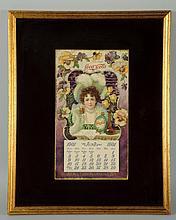 Scarce 1901 Coca-Cola Calendar.