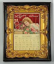 Rare & Beautiful 1901 Coca-Cola Calendar.