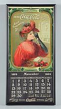 Small 1908 Coca-Cola Calendar.