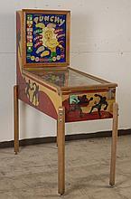 1950 Chicago Coin Punchy Pinball Machine.