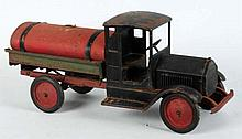 Pressed Steel Sturdy Toy Tank Truck.