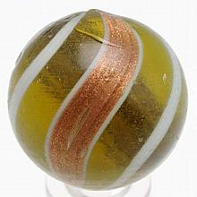 Large Olive Green Banded Lutz Marble.