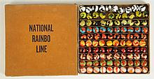 Peltier No.0 Box Set of National Rainbow Marbles.