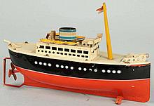 German Arnold Tin Litho Wind-Up Ocean Liner Boat.