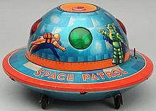 Tin Litho Battery Op. Space Patrol X-15.