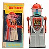 Tin Painted & Litho Battery Op. Chief Smoky Robot