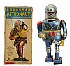 Tin Litho Battery Op. Cragston Astronaut.