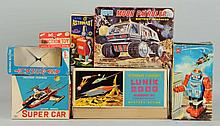 Lot of 7: Assorted Robot Boxes.