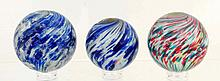 Lot of 3: Onionskin Marbles.