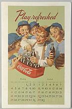 1950s Coca-Cola Calendar Page.