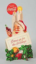 1952 Coca-Cola Santa Cutout.