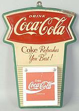 1960s Coca-Cola Tin Calendar Holder.