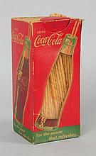 1940s Coca-Cola Straw Box.