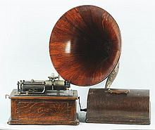 Edison Triumph Phonograph with Large Horn.