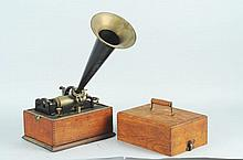 Small Edison Phonograph with Horn.