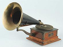 Small Victor Talking Machine with Horn.