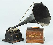 Edison Gem Phonograph with Horn.