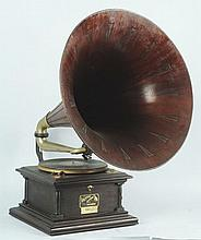 Victor Phonograph with Large Horn.