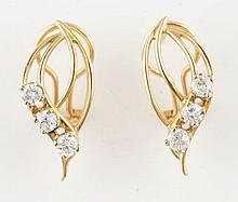 Pair of 14K Yellow Gold Earrings.