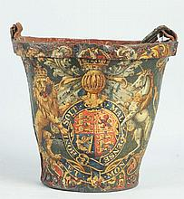 Riveted Hand Painted Fire Bucket.