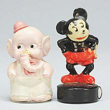 Lot of 2: Celluloid Disney Figural Tape Measures.