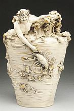 Large Royal Dux Bohemia Sea Vase.