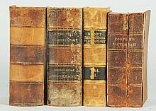 Lot of 4: Leather Bound Antique Medical Books.