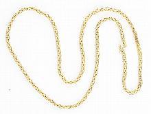 14K YG Heavy Fish Net Necklace.
