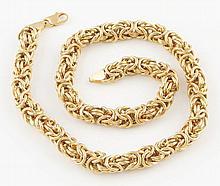 14K YG Large Link Necklace.