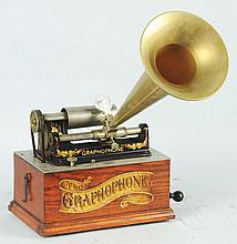 Graphophone with Gold Horn.