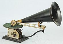 Small Phonograph with Horn.
