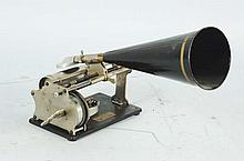 Small Graphophone with Horn.