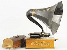 Edison Home Phonograph with Horn.