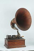 Edison Opera Phonograph with Large Horn.