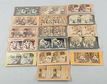 Lot of 16: Stereoviews Christmas & Santa.