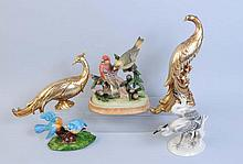 Lot of 5: Assorted Bird Figurines.