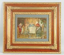 Framed Print of A Happy Family.