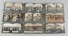 Lot of 9: Stereoviews Early Commercial Fishing.