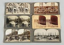 Lot of 6: Stereoviews Oil Production.