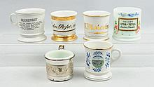 Lot of 6: Shaving Mugs.
