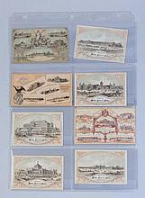 Lot of 8: 1876 Centennial Expo Cards.